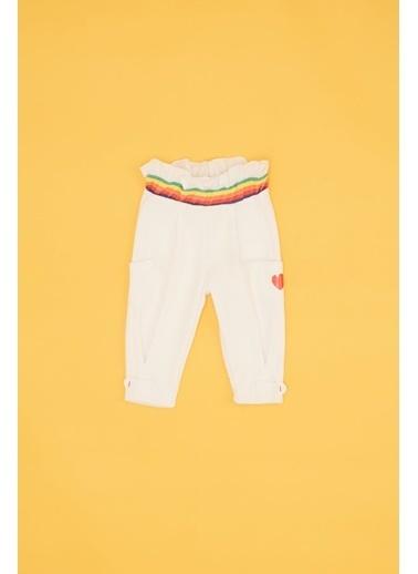 BG Baby Kız Bebek Beyaz Eşofman Altı Beyaz